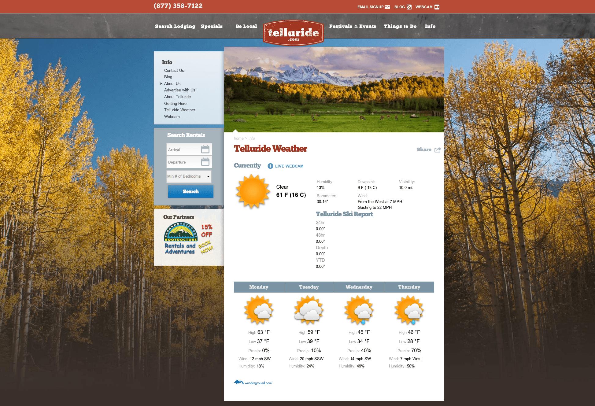 telluride weather