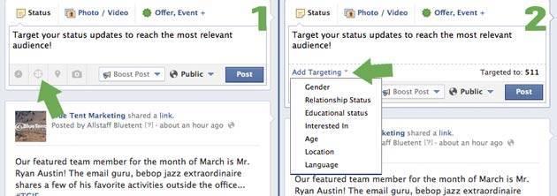 Target FB posts