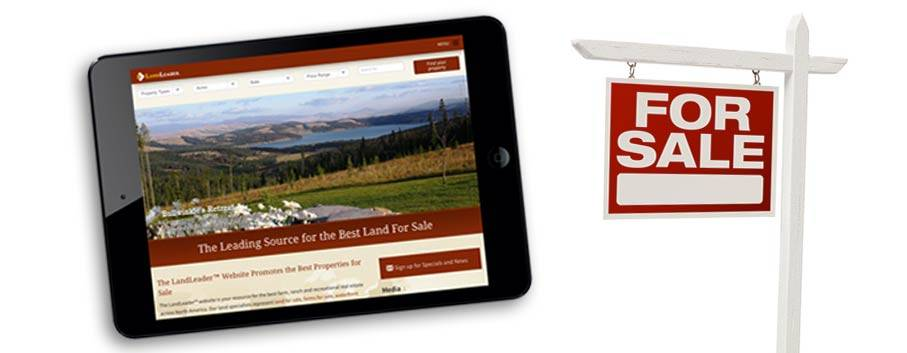 LandLeader website on an iPad