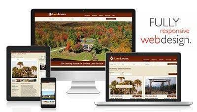 Responsive website LandLeader.com