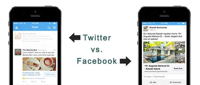 Comparison of Facebook and Twitter ads