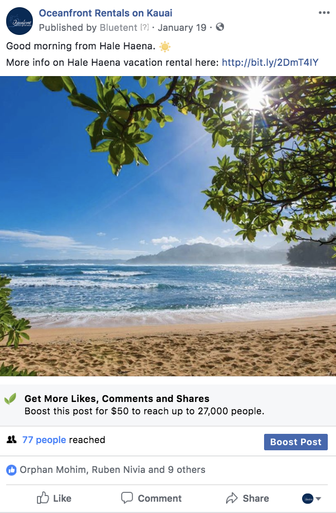 Oceanfront Realty Increases Engagement with Social Media